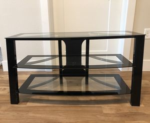 Tv glass black stand for Sale in Denver, CO