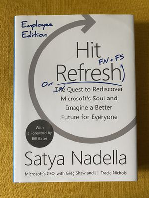 Hit Refresh (hardcover book) for Sale in Redmond, WA