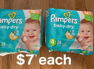 Pampers size 4 for Sale in Niles, IL