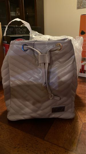 Bella Russo Faux Leather Quilted Backpack Bag Purse Tan/Gray - NEW for Sale in Surprise, AZ