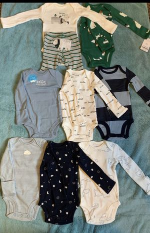 New born clothes, by Carter's for Sale in Waterbury, CT