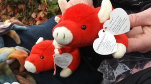 Authentic original beanie baby rare (Red Bull snort) for Sale in Mill Creek, WA