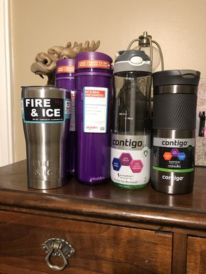 Travel Mugs and Water Bottle Variety for Sale in Fisherville, TN