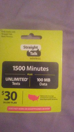 Straight talk cell phone card for Sale in Ocean Shores, WA