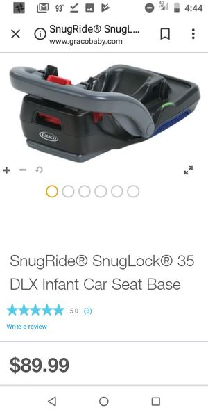 Graco Snuglock Infant carseat base for Sale in Plano, TX