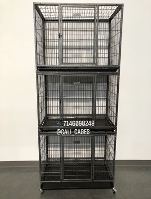 Triple stackable dog pet cage kennel size 37 medium set of 3 new in box 📦 for Sale in Ontario, CA