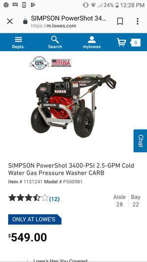 Simpson Pressure washer for Sale in Suffolk, VA