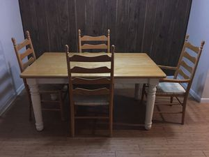 Light brown real wooden dining table for Sale in Brownwood, TX