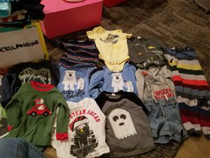 A lot of baby boy CLOTHES size 12-18 mth Long sleeve shirts for Sale in Hanover, MD