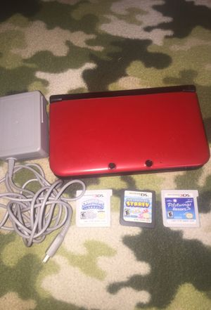 Nintendo 3dsxl $170$ 4 games digital ...3 games case for Sale in Orlando, FL