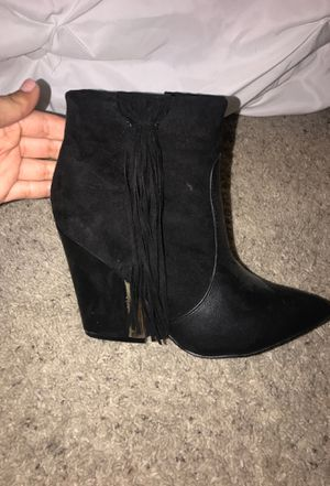 JustFab Pointed Bootie with Fringe Size 7.5 for Sale in Atwater, CA