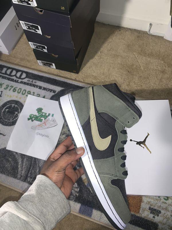 Air Jordan 1 Mid Olive sz 11W - 9 men's