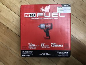 """Milwaukee 2767-20 1/2"""" High Torque Impact Wrench for Sale in Framingham, MA"""