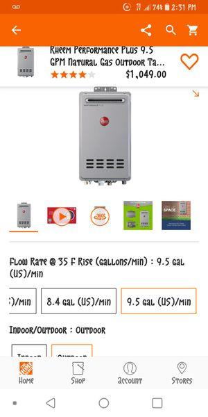 Rheem 9.5 gas high tankless water heater for Sale in Waipahu, HI