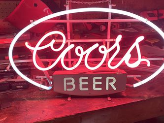 Coors Neon Sign for Sale in Huntington Beach,  CA