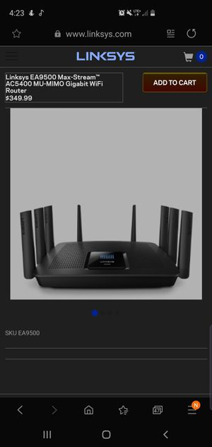 Linksys EA9500 Max-Stream™ AC5400 MU-MIMO Gigabit WiFi Router for Sale in Longmont, CO