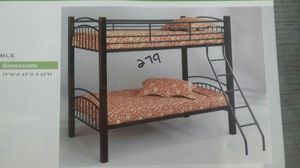Twin/ twin metal & wood bunk bed for Sale in Las Vegas, NV