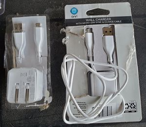 New wall charger with micro usb sync & charge cable for Sale in Riverside, CA