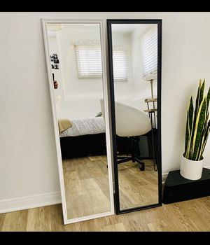 """White or Black mirror 49.5"""" x 13.5"""" Great for rooms and make up! Can deliver San Diego county $5-$10 for Sale in San Diego, CA"""