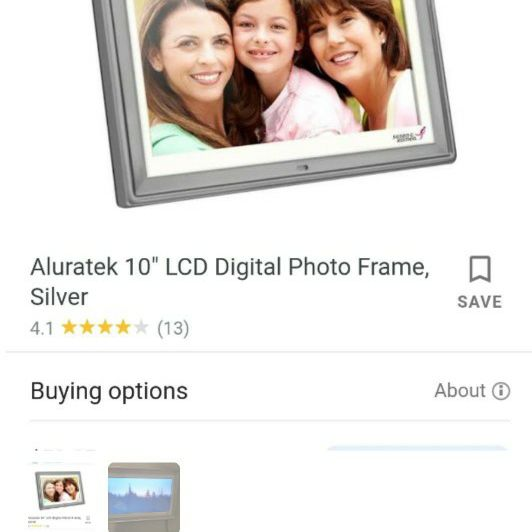 LCD Photo frames 2 available ea