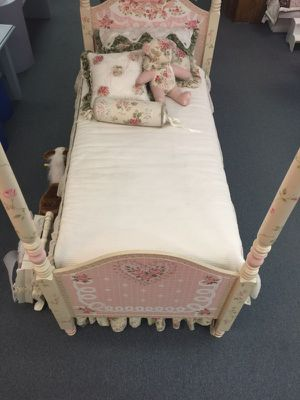 Twin size hand painted bed for Sale in Philadelphia, PA