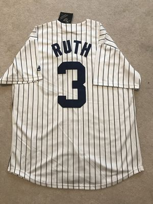 Babe Ruth Yankees jersey size large for Sale, used for sale  New York, NY