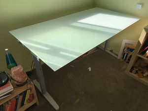 Glass Top-Frosted IKEA desk for Sale in San Diego, CA