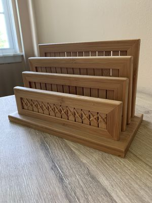 Bamboo letter holder for Sale in San Antonio, TX