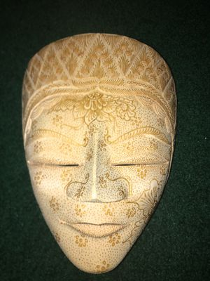 Hand carved wooden Indonesian mask for Sale in Eau Claire, WI