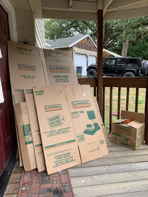 Free: more boxes and bubble wrap packing material. Cost $50 at Home Depot so would feel bad throwing them away. Have them under the awning so they do for Sale in Tigard, OR
