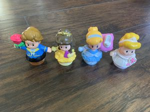 Little people Disney Princess ser of 4 -$10 for Sale in Floresville, TX