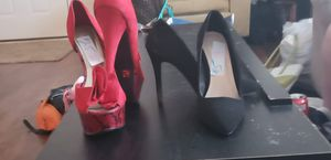 Red heels and a basic black heel for Sale in Murfreesboro, TN