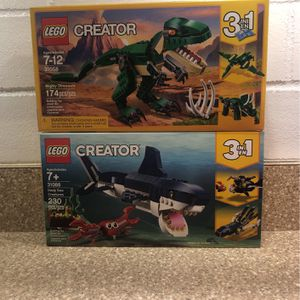 LEGO Creator Mighty Dinosaurs & Deep Sea Creatures for Sale in Dunnellon, FL