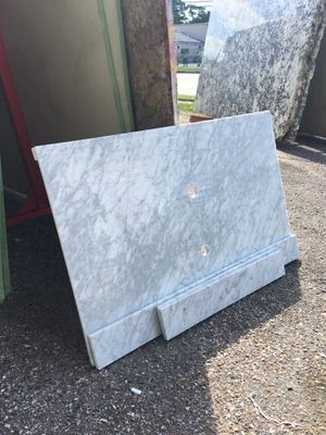 Carrera white marble 2cm backsplash and sink $499 for Sale in Houston, TX