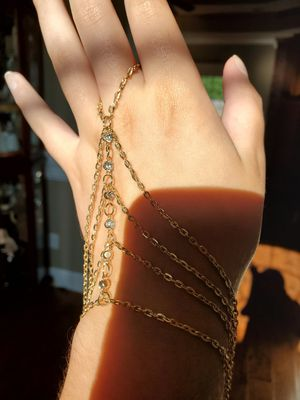 Gold Chain Hand Costume Jewelry Bracelet for Sale in Texarkana, TX