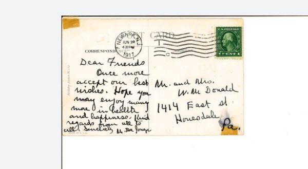 Vintage post stamp. 1890-1912 series (G.W 1cent)