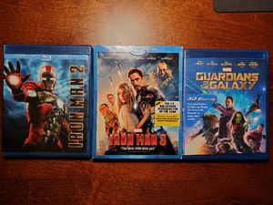 Blu ray/DVD Iron man Gardians of the Galaxy for Sale in Diana, TX