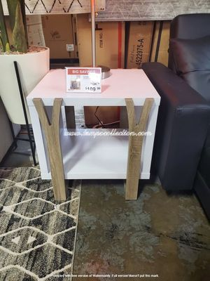 NEW, End Table, White and Dark Taupe for Sale in Westminster, CA