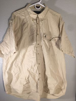 Browning men's vented short sleeve button front fishing XXL for Sale in San Antonio, TX