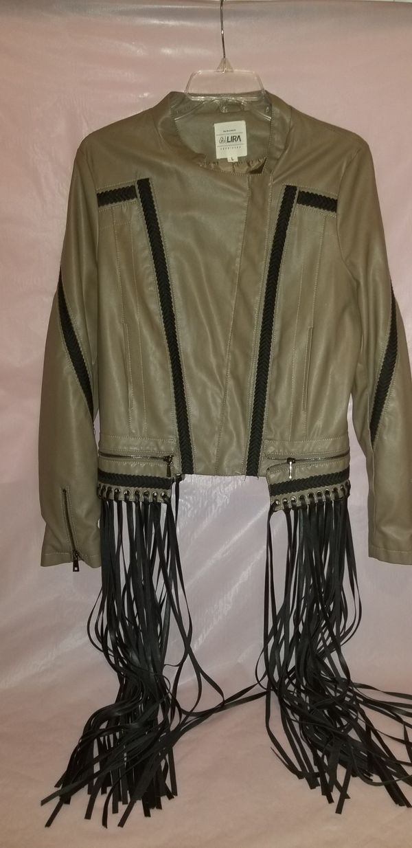 NOW $20 - Ladies Moto Jacket: Large
