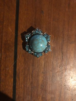 Beautiful turquoise snap charm for Sale in Plainfield, IL