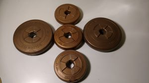 Set of 5 golden Pro disc weight 17.5 lb for Sale in Columbus, OH