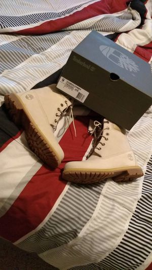 Brand new off white wedge timberlands for women for Sale in St. Louis, MO