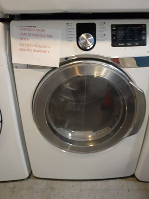 Samsung front load Steam electric dryer in exelent condition for Sale in Baltimore, MD