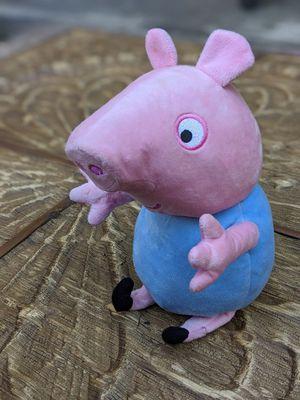 Like new Peppa Pig large GEORGE plush stuffed animal, talking toy doll for Sale in Sarasota, FL