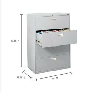 Hon Brigade 600 Series 4-Drawer File Cabinets - Light Gray for Sale in Los Angeles, CA