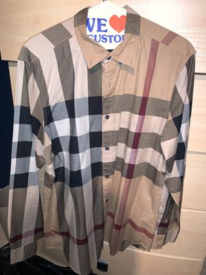 Burberry shirt men Large for Sale in Westfield, IN