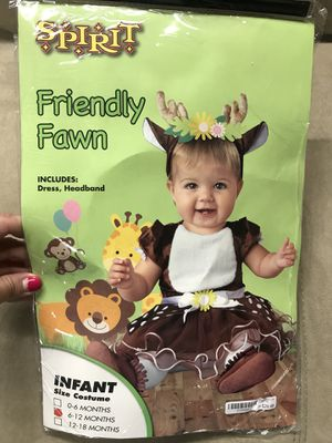 Baby Girl Fawn Costume 6-12 Months for Sale in Long Beach, CA