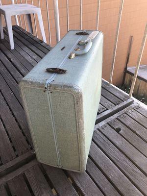 Super lovely original vintage travel TEAL suitcase for Sale in San Francisco, CA