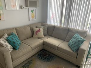 Tan sectional couch for Sale in Miami Beach, FL